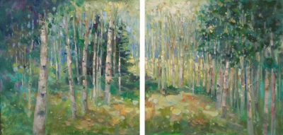 Walk in the woods too (diptych)