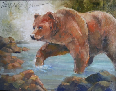 Bear in the Stream