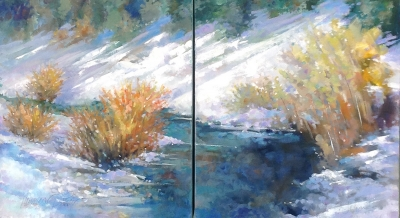Dogwood Creek (Diptych)